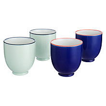Buy John Lewis Oriental Teacups, Set of 4, Red/Blue Online at johnlewis.com