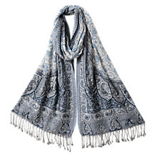 Buy East Priyanka Embellished Shawl, Blue Online at johnlewis.com