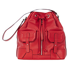 Buy Warehouse Zip Front Duffle Bag, Bright Red Online at johnlewis.com