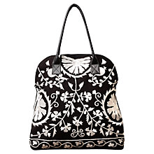 Buy East Savoy Embroidered Bag, Black Online at johnlewis.com