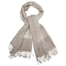 Buy Gérard Darel Scarf, White Online at johnlewis.com