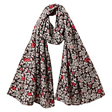 Buy East Ava Print Scarf, Black Online at johnlewis.com