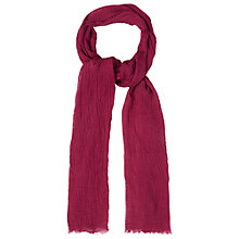 Buy White Stuff Dreaming Away Skinny Scarf, Pink Online at johnlewis.com