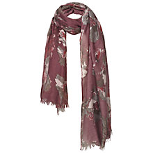Buy Fat Face Winter Floral Print Scarf, Purple Online at johnlewis.com