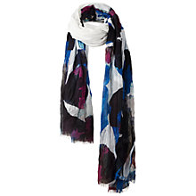Buy Fat Face Oversized Pansy Print Scarf, Whtite Online at johnlewis.com