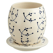 Buy John Lewis Blue and White Cup and Saucer Online at johnlewis.com
