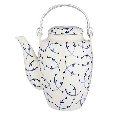 John Lewis Blue and White Teapot