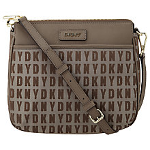Buy DKNY HQ Print Bryant Leather Top Zip Across Body Bag Online at johnlewis.com