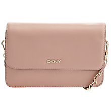 Buy DKNY Greenwich Flap Leather Across Body Bag, Blush Online at johnlewis.com