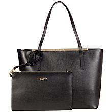 Buy Ted Baker Isbell Zip Crosshatch Shopper Leather Handbag Online at johnlewis.com