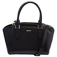 Buy DKNY Greenwich Leather Tote Bag, Navy Online at johnlewis.com
