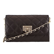 Buy DKNY Gansevort Leather Quilted Across Body Bag, Black Online at johnlewis.com