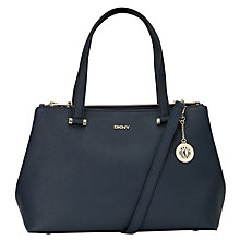 Buy DKNY Bryant Large Leather Shopper Bag, Navy Online at johnlewis.com