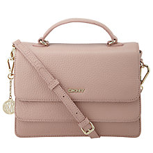 Buy DKNY Tribeca Top Handle Satchel Handbag, Blush Online at johnlewis.com