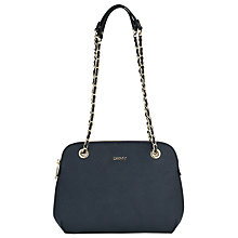 Buy DKNY Bryant Round Across Body Leather Bag, Navy Online at johnlewis.com