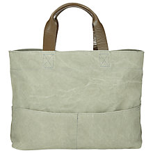 Buy Kin by John Lewis Bronte Oversized Canvas Tote Bag, Green Online at johnlewis.com