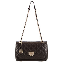 Buy DKNY Gansevort Leather Quilted Shoulder Bag, Black Online at johnlewis.com