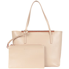 Buy Ted Baker Isbell Zip Leather Crosshatch Shopper Bag Online at johnlewis.com