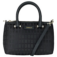 Buy DKNY Bryant Zip Round Across Body Bag, Black Online at johnlewis.com