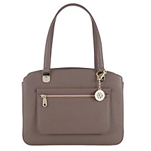Buy DKNY Mercer Triple Compartment Leather Tote Bag, Desert Online at johnlewis.com