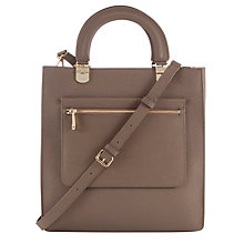 Buy DKNY Mercer Leather Large Shopper Bag, Desert Online at johnlewis.com