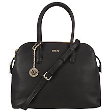 Buy DKNY Tribeca Triple Leather Satchel Bag, Black Online at johnlewis.com