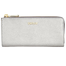 Buy DKNY Bryant Park Large Half Zip Around Purse, Silver Online at johnlewis.com
