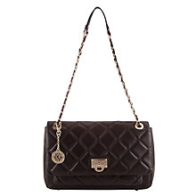 Buy DKNY Gansevort Leather Large Shoulder Bag, Black Online at johnlewis.com