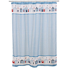 Buy John Lewis Beach Huts Shower Curtain Online at johnlewis.com