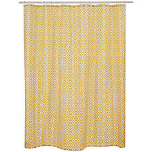 Buy John Lewis Nazca Shower Curtain, Yellow Online at johnlewis.com