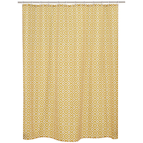 buy john lewis nazca shower curtain yellow john lewis. Black Bedroom Furniture Sets. Home Design Ideas