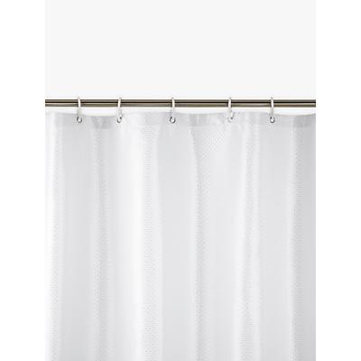 John Lewis Jacquard Shower Curtain, White