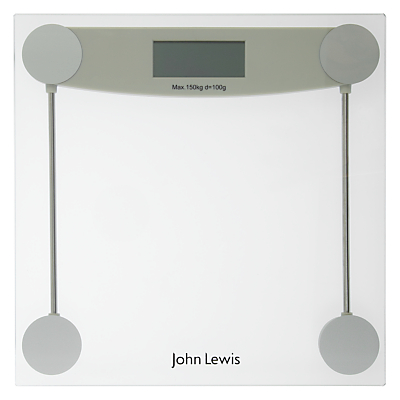 John Lewis Digital Glass Bathroom Scale