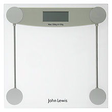 Buy John Lewis Digital Glass Bathroom Scale Online at johnlewis.com