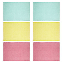 Buy John Lewis Sorbet Placemat, Set of 6, Multi Online at johnlewis.com