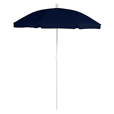 House by John Lewis Tilting Round Portable Parasol, 1.8m, Navy