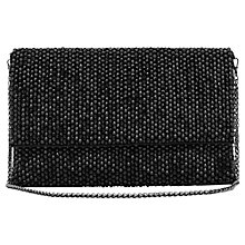 Buy Reiss Minty Embellished Clutch Bag, Black Online at johnlewis.com