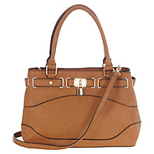 Buy Oasis Tegan Triple Compartment Bag, Tan Online at johnlewis.com