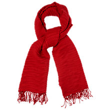 Buy Phase Eight Pleated Scarf, Cardinal Red Online at johnlewis.com