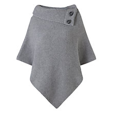 Buy Jigsaw Button Poncho, Grey Online at johnlewis.com