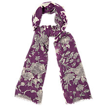 Buy Phase Eight Jasmin Scarf, Amethyst Online at johnlewis.com