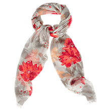 Buy Oasis Neo Floral Scarf, Multi Orange Online at johnlewis.com