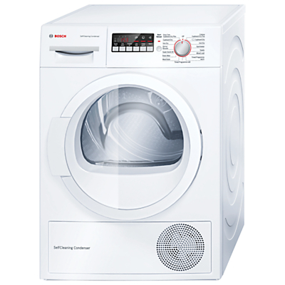 Image of Bosch WTW85260GB Heat Pump Condenser Tumble Dryer, 8kg Load, A++ Energy Rating, White