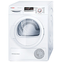 Buy Bosch WTW85260GB Heat Pump Condenser Tumble Dryer, 8kg Load, A++ Energy Rating, White Online at johnlewis.com