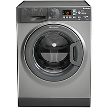Buy Hotpoint WMAQG641G Freestanding Washing Machine, 6kg Load, A+ Energy Rating, 1400rpm Spin, Graphite Online at johnlewis.com