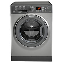 Buy Hotpoint WMSAQG621G Freestanding Washing Machine, 6kg Load, A+ Energy Rating, 1200rpm Spin, Graphite Online at johnlewis.com