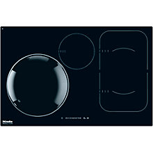 Buy Miele KM6356 Induction Hob, Black Online at johnlewis.com