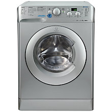 Buy Indesit XWD71452S Freestanding Washing Machine, 7kg Load, A++ Energy Rating, 1400rpm Spin, Silver Online at johnlewis.com
