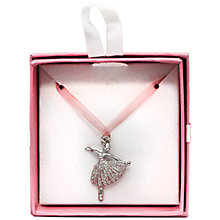 Buy John Lewis Ballerina Gift Necklace, Pink Online at johnlewis.com