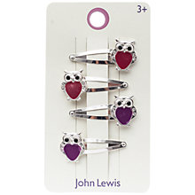 Buy John Lewis Girl's Heritage Owl Hair Clips, Pack of 4 Online at johnlewis.com